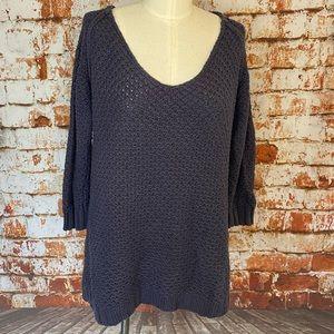 Soft surroundings purple knit tunic sweater medium